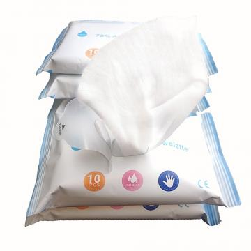 Custom 100PCS Non-Woven Fabric 75% Alcohol Wipes Disinfectant Alcohol Wipes