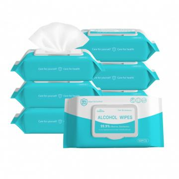 Custom Disinfectant With CE Approvals Cleaning Wipes 75% Alcohol Wet Wipes