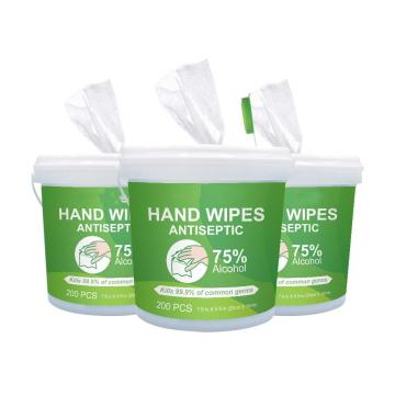 Gym wipes antibacterial hand sanitizing wipes alcohol free hand disinfectant wipes in big bucket