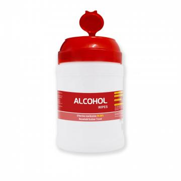 100pcs/barrel cheap high quality English packaging disposable alcohol sterilization wipes